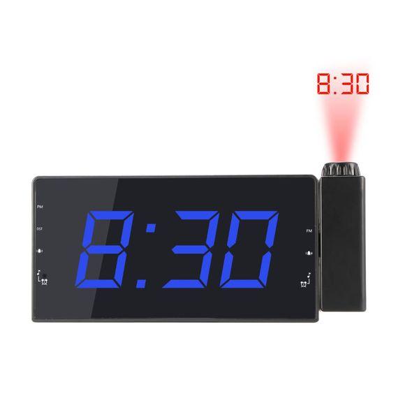 Digitalprojektor Radio Wecker Snooze Timer Temperatur LED-Anzeige USB-Ladekabel Tisch Wand FM Radio Clock
