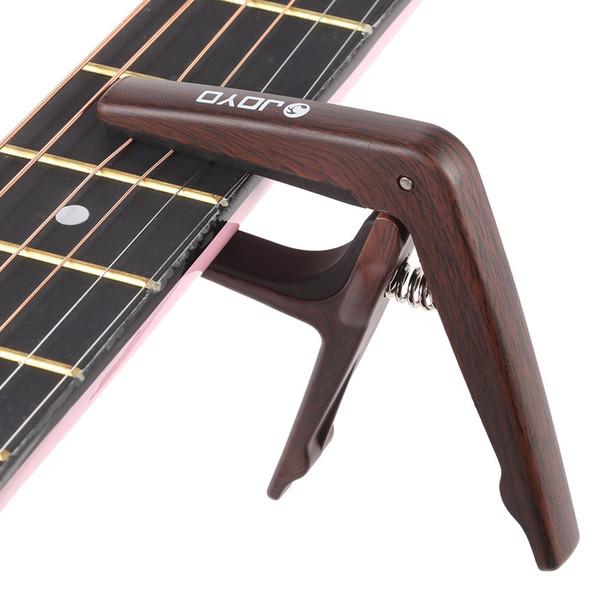 JOYO JCP-01 Light Guitar Capo Schnellwechsel-Klappschlüssel aus Kunststoff mit E-Gitarre für 6-saitige akustische E-Gitarre