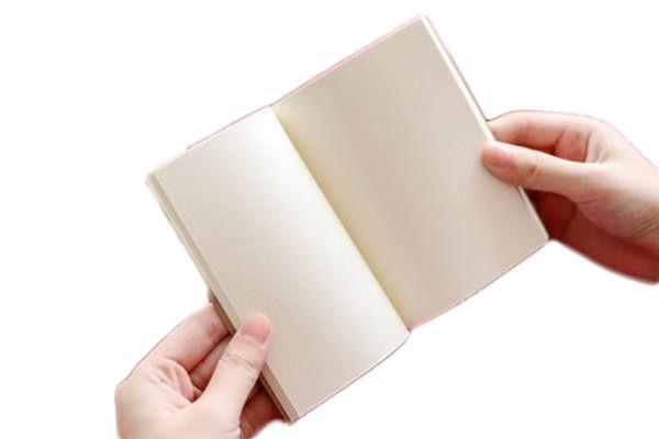 Small Blank Kraft Paper Notebook Notepad Sketchbook Diary Journal Paint Drawing Pattern Randomly Stationery