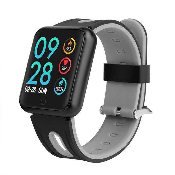 P68 montre smart watch 38mm Smartwatch Sport Band de charge sans fil Bluetooth IP68 étanche 4,0 1,3 pouces à écran tactile 230mAh batterie