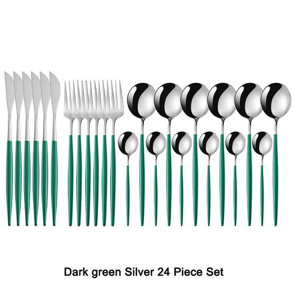 Koyu yeşil gümüş