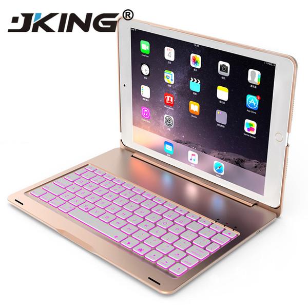 Wireless Bluetooth Keyboard Ultra Slim Aluminium Wireless Bluetooth Keyboard Carrying Stand Cover for iPad Pro 9.7 Air Air 2 New Ipad 2018
