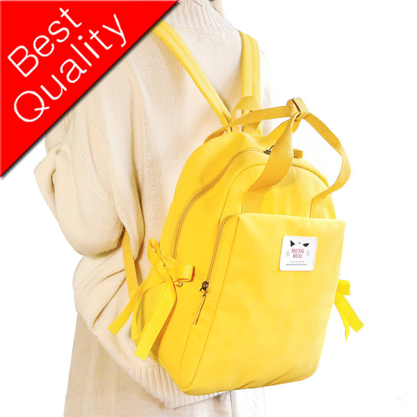 Women Preppy School Bags For Teenagers Female Nylon waterproof Travel Bags Girls Cute Bow Backpack Feminina Rucksack Mochilas