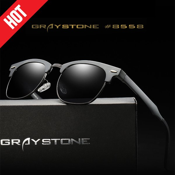 Occhiali da sole polarizzati di alta qualità in alluminio magnesio per gli uomini Occhiali da sole firmati di marca per gli uomini Gafas UV400 occhiali protettivi