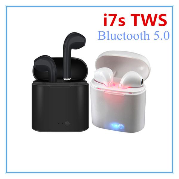 i7s TWS Wireless Earpiece Bluetooth Earphones I7 sport Earbuds Headset With Mic For smart Phone iPhone Xiaomi Samsung Huawei LG Headphones
