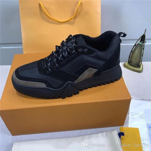 Gli ultimi stivaletti da trekking da uomo stivale piatto in arancione nero blu, sneakers in pelle di vitello 19ss complesse scarpe invernali da uomo con scatola taglia 38-45