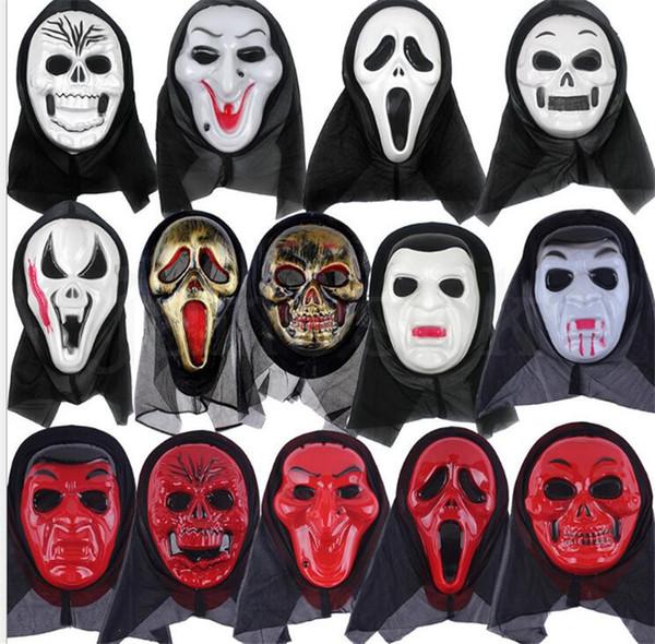 skull Halloween mask part masks Screaming skeleton grimace props Masquerade mask full face for men women scary mask dc859