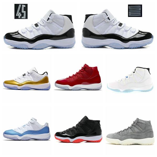 11 Erkek 11'ler Basketbol Ayakkabıları Yeni Concord 45 Platin Ton Space Jam Salonu Kırmızı Win gibi 96 XI Tasarımcı Sneakers Erkek Spor Ayakkabı