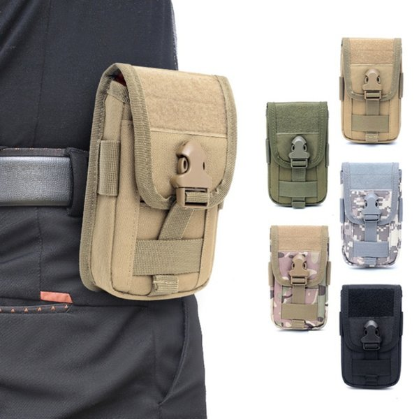 Outdoor Climbing Bags Tactical Molle Holster Vest Card Carrier Bag Mini Multi-function Hook Loop Travel Belt Waist Bag