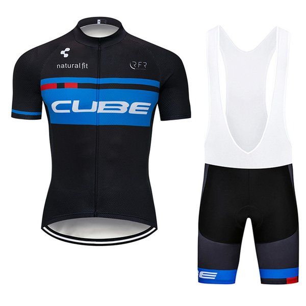 Cube Team Cycling Short Sleeves Jersey Bib Shorts Sets New Men Breathable Clothing Summer Mtb Bicycle Wear U40813