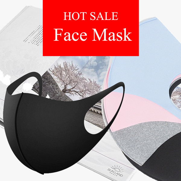 best selling face mask  ice silk dustproof mouth masks Adult Children anti dust washable print masks kids sunscreen breathable facemask in stock