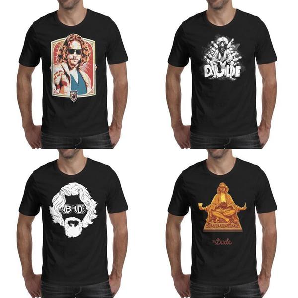 caber personalizado American hop as camisas Mens Lebowski Big preto impressão quadril