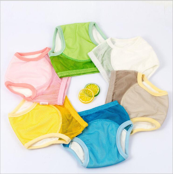 Baby Diaper Pants Cover Reusable Mesh Training Shorts Summer Breathable Washable Diapers Learning Nappy Briefs Pants Panties Underwear B5563