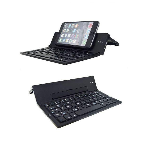 Clavier Bluetooth pliant, clavier sans fil pliable avec format de poche, boîtier en alliage d'aluminium, pour iPad, iPhone, Andr