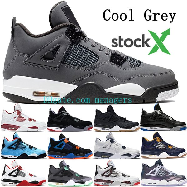 New Jumpman 4 4s Basketball Shoes Men Cool Grey Bred Thunder Royalty Sneakers Mens Cactus Dunk From Above Tattoo Raptors Trainers Us 7 13