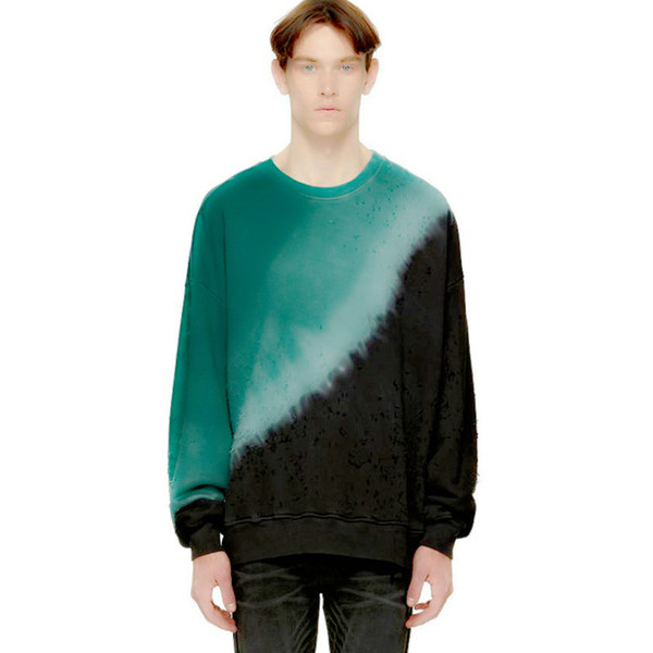 Moda com primavera e verão de cor retro T-shirt de manga comprida rua pulôver ARS moda hip hop camisola T-shirt Top qualidade superior