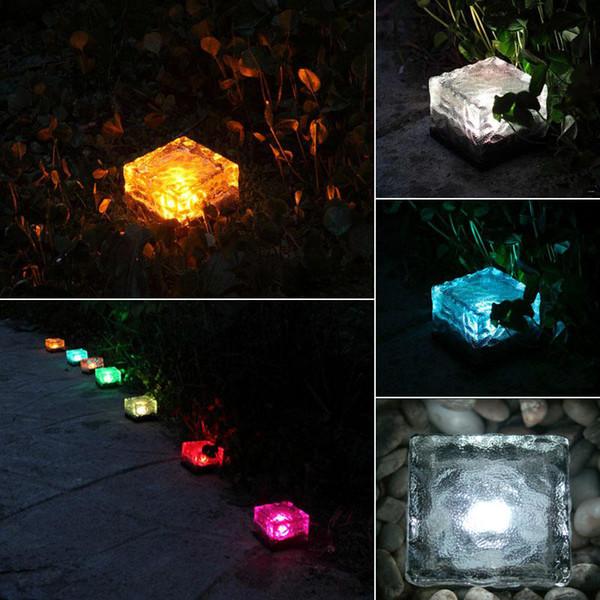 Fora IP65 simulação impermeável cubo de gelo de luz LED noite tijolo lâmpada do jardim praça banquete de casamento decoração de iluminação