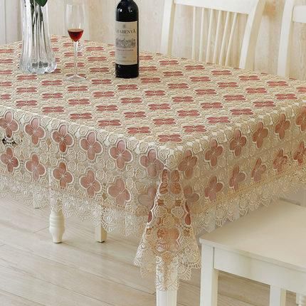 Europe luxury embroidered tablecloth table dining table cover cloth Lace fabric glass yarn water soluble cloth