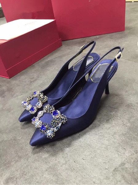 2019 Designer Gladiator High Heels Women Shoes Nude Black Spikes T-strap Pump Patent Leather Stud Lady Shoes Summer by18122003