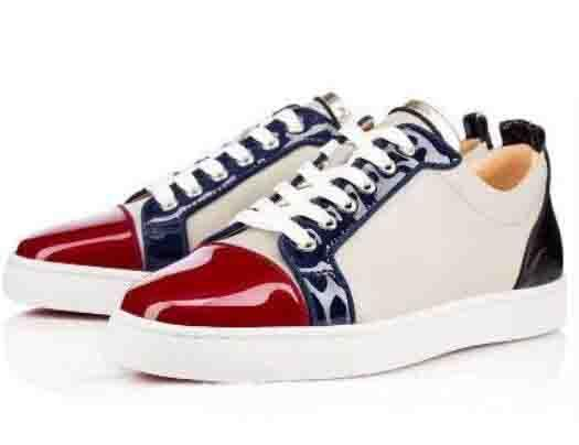 Top Red Black Sneakers Junior Flat Red Bottom Shoes Women Men Trainers Patent Leather Lace-up Red Soles Luxury Party Dress Shoe