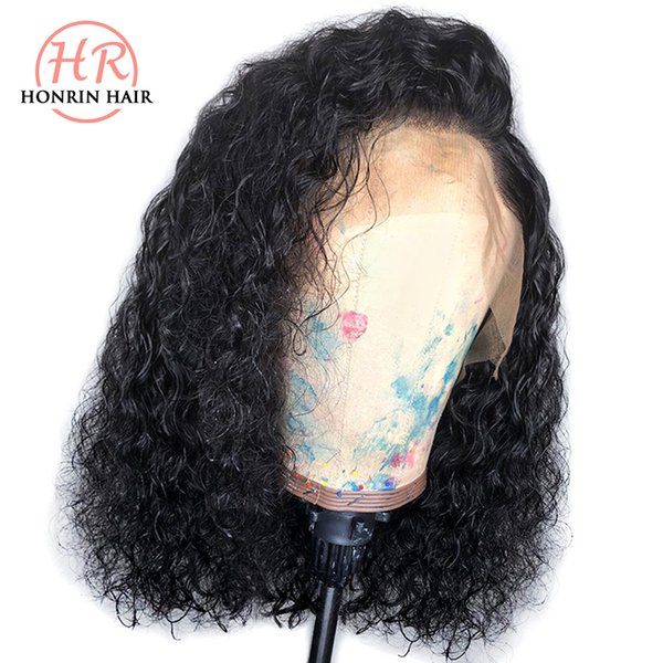 Lace Front Wig Short Bob Curly Deep Curly Malaysian Virgin Human Hair Full Lace Wig Pre Plucked Hairline 150% Density With Baby Hairs