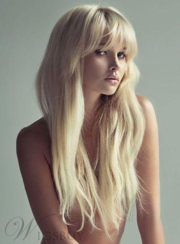 Sexy Fascinating Amazing Long Loose Wavy 100% Human Hair Wigs
