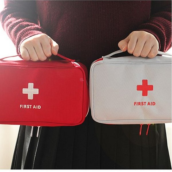 First Aid Emergency Kit Portable Family Medicine Storage Bag Outdoor Camping Pill Storage Case Home Office Survival Box 10 Pieces DHL