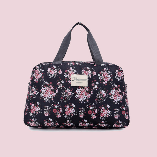 Women Fashion Oxford Traveling Shoulder Bag Large Capacity Travel Bag Hand Luggage Bag Flower Design Travel Duffle Bags