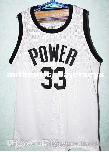 Factory Outlet #33 Lew Alcindor Power High School Jersey Kareem Abdul Jabbar basketball Jerseys Embroidery Customized any Name and Number