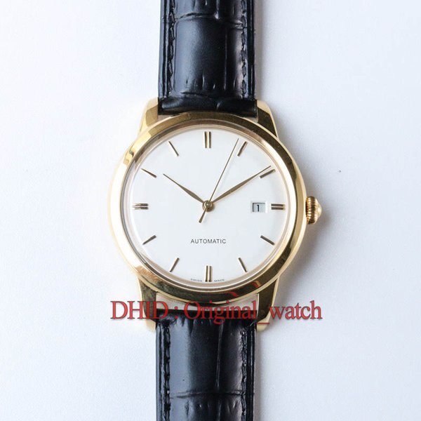 Import 9015 Automaitc Mechanical Movement Wristwatch 40mm Steel Case Italy Cowhide pin Buckle Auto Date Gold Watch Luxury Watch men watch