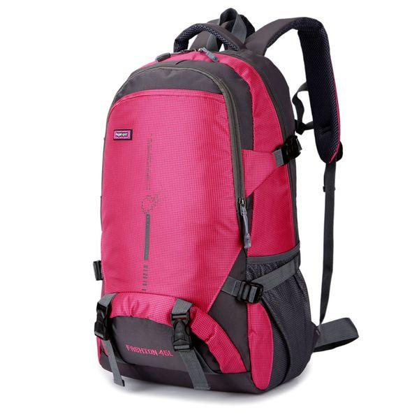 Outdoor Climbing impermeabile Bag Zaino Trekking Zaino 45L sport esterni Borsa zaino da viaggio escursione di campeggio Zaino donne per gli uomini