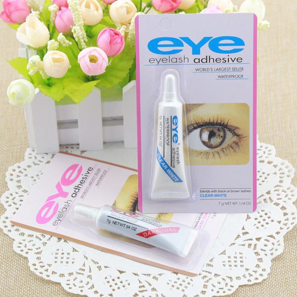 Hot Eye Lash Glue Black White Makeup Adhesive Waterproof False Eyelashes Adhesives Glue White And Black Available