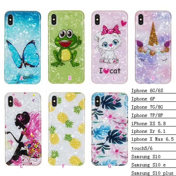 Роскошный чехол Soft TPU для Iphone 11 Pro XS MAX XR X 7 6 6 5 Сенсорный Samsung S10 S10e Sexy Girl Butterfly Flower Frog Cat Ананас Обложка
