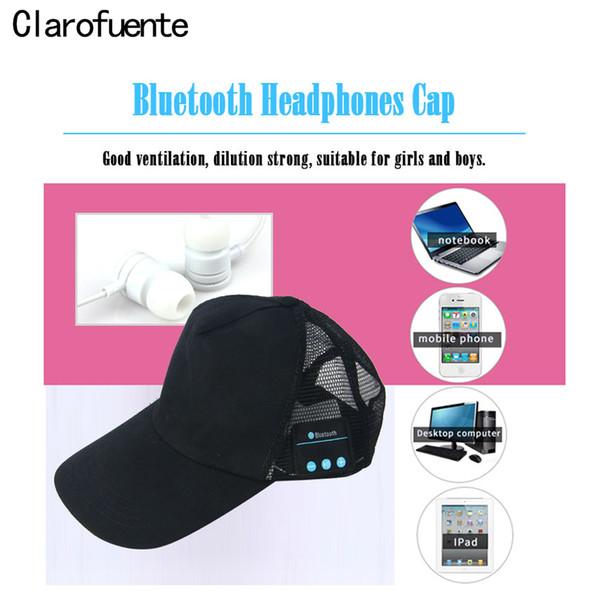 Clarofuente BTW7 Bluetooth Sun Cap Auriculares para juegos, MIC inalámbrico Inular auriculares, Gorra de béisbol deportiva Auriculares Gamer para niños