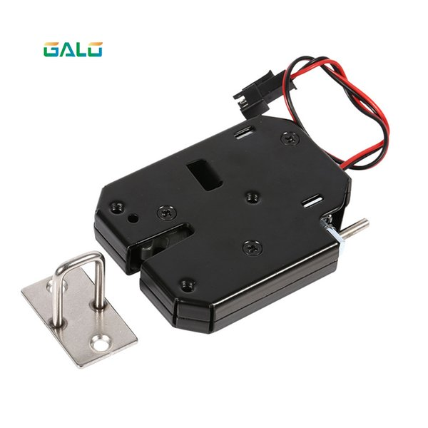 top popular DC 12V 2A Solenoid Electromagnetic Electric Control Cabinet Drawer Lockers Lock latch Push-push Design 2021