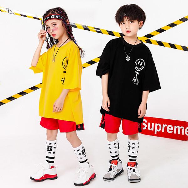 Jungen Mädchen Sommer 2019 Kleidung Set 4 6 8 10 12 14 16 T Hip Hop Dance Kostüme Kinder Jazz Set auf die Jungen Outfits Kinder Kleidung Jungen