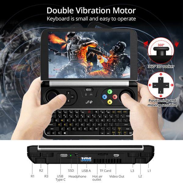 Neue GPD WIN 2 6 Zoll Handheld Gaming Laptop Intel Core m3-7Y30 Notebook 8 GB RAM 256 GB SSD Mini Pocket Laptop Windows 10 System