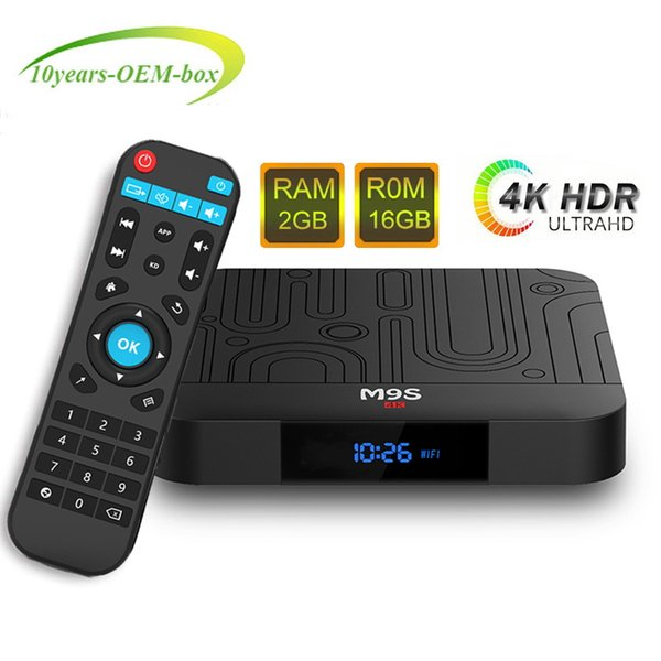 Amlogic S905W M9S W1 2GB 16GB TV Box Quad-core Android 7.1 TV Streaming Boxes M9S S905W es mejor que TX3 X96 H96 S905X2 RK3328
