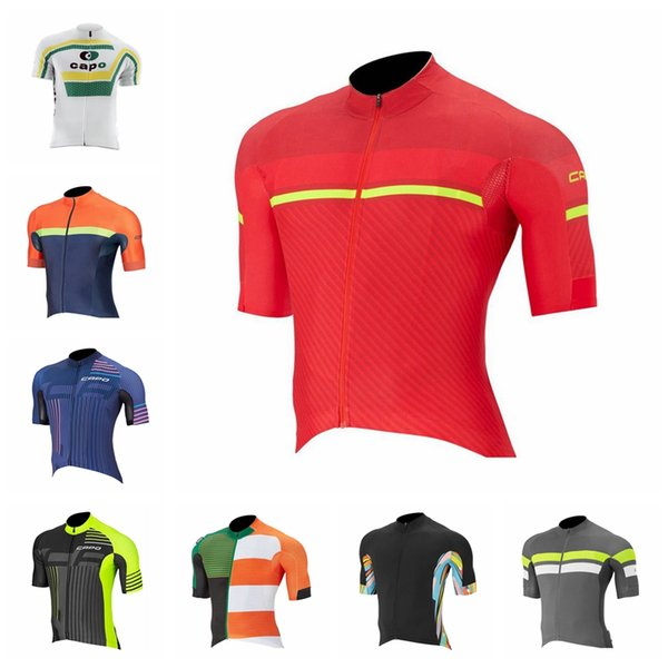 CAPO team custom made men short sleeve outdoor breathable quick dry comfortable sports jersey top Cycling Short Sleeves jersey S8152