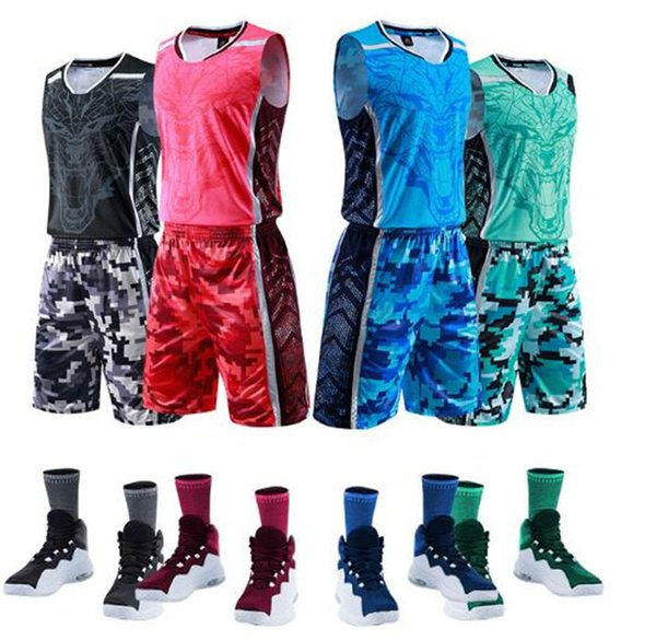 f56069040e3 New basketball suit custom suit, men and women summer vest printing,  college sports training