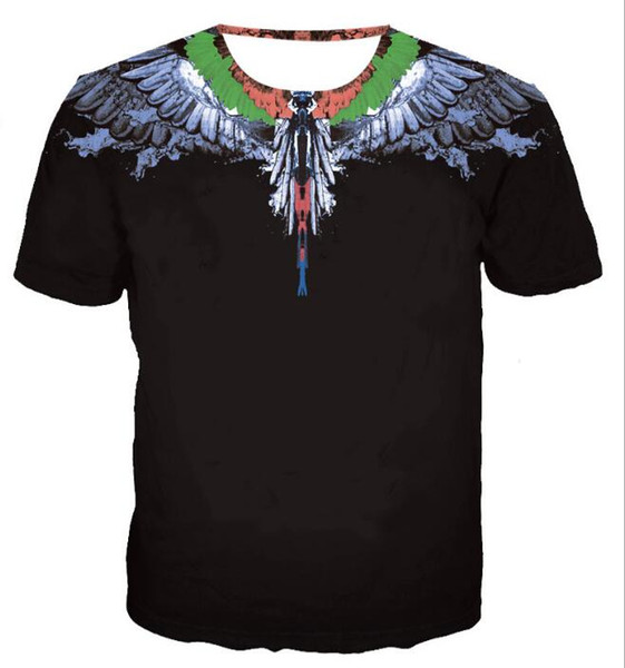 new Marcelo Burlon T-Shirt Men Milan Feather Wings T Shirt Men Women Couple Fashion Show RODEO MAGAZINE T Shirts Goros camisetas