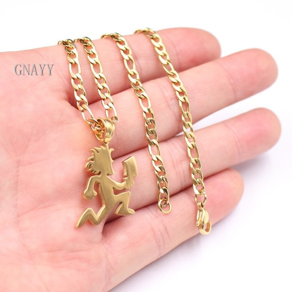 wholesale stainless steel MINI small 1'' HATCHETMAN hatchet man ICP Pendant Necklace Link chain Gold COLOR