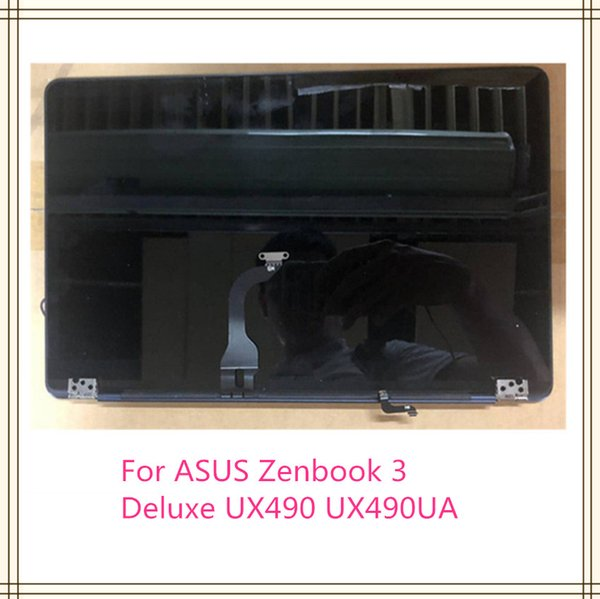 "14""Monitor LCD Screen Display Back Cover Hinges Complete Assembly For Asus ZenBook3V Deluxe UX490 UX490UA UX490UAR Panel Glass"