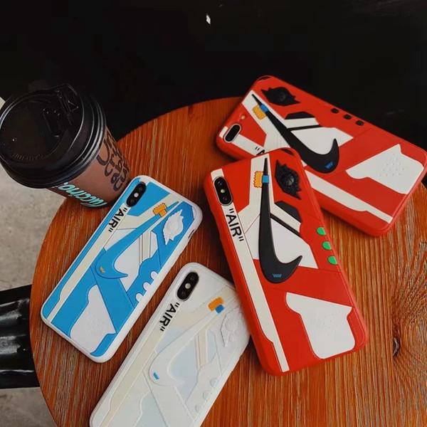 quattro colori top Brand SILICONE air shoes FASHION Custodia per telefono per iphone X XS XR Xs Max 6 6plus 7 7plus 8 8plus Custodia posteriore Borse conchiglia calda