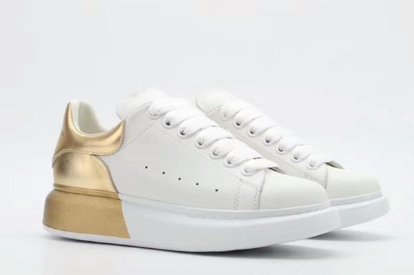 2019 Herbst neue kleine weiße Schuhe weiblichen Schwammkuchen Sportschuhe koreanischen Leder dicken Boden wild 889616