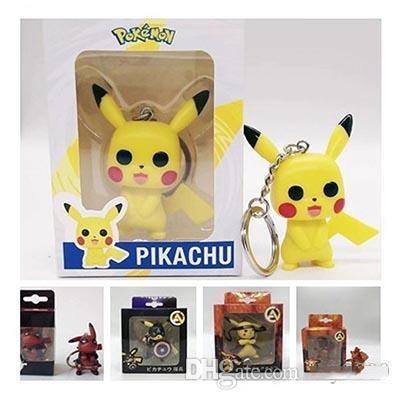 Pikachu anahtarlık çan çift Anahtarlık Araba Anahtarlık Akrilik Bell Anime Anahtarlık Çanta kolye Jdr Pikachu Aksesuarları çocuk oyuncakları Şekil