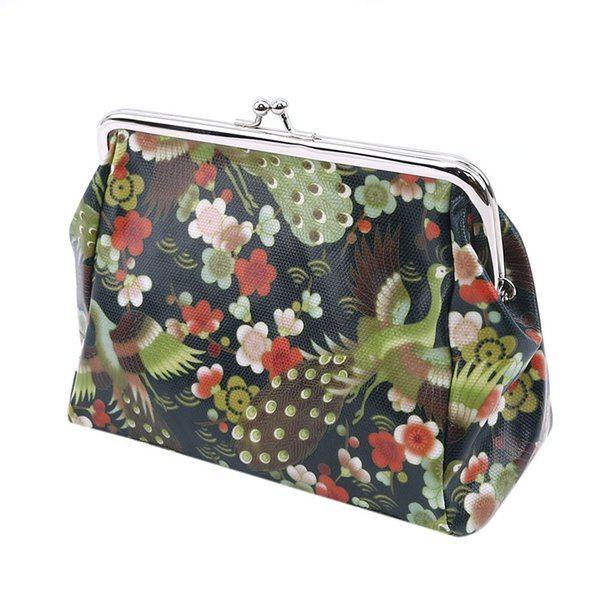 Multicolor Pattern Makeup Bags Cute Cosmetics Pouches For Travel Ladies Canvas Vintage Make Up Portable Bags