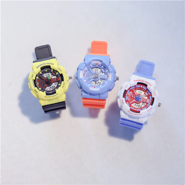 2019 Cheap Newly Arrived Rubber strap sport Iady Watches Womens Sports LED Digital Colorful Wristwatches Auto Light womens designer Wristwat