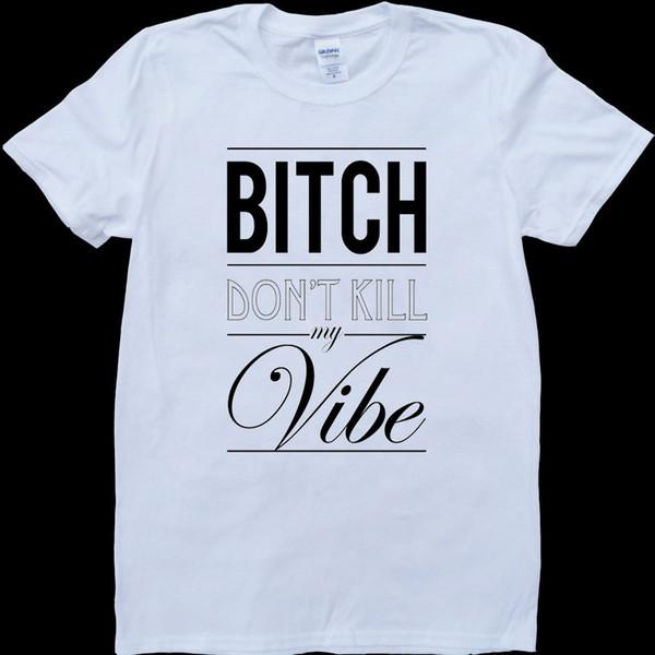 Kendrick Lamar B*tch Dont Kill My Vibe White, футболка на заказ Anastasia Pusheen