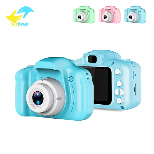 2 Inch HD Screen Chargable Digital Mini Camera Kids Cartoon Cute Camera Toys Outdoor Photography Props for Children Birthday Gift
